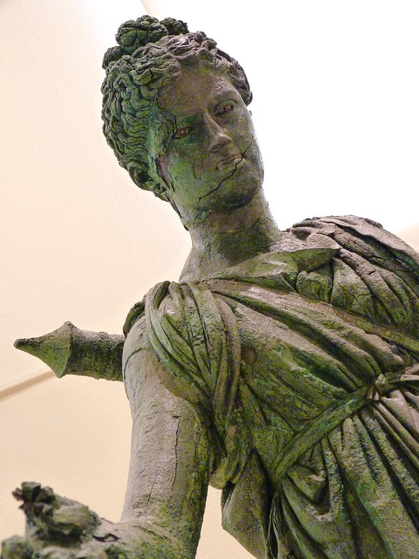Bronze statue of Artemis by Praxitelis 4th century B.C
