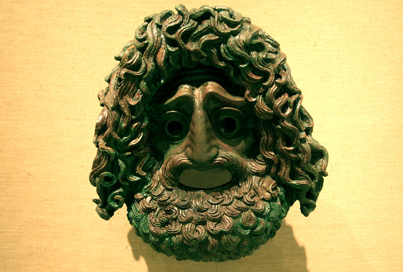 Bronze theatrical mask (tragedy) 4th Century B.C